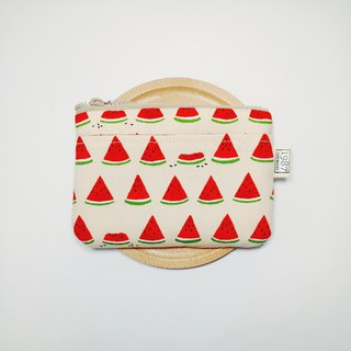[Watermelon - Powder] Coin Purse Clutch Bag with Zipper Bag