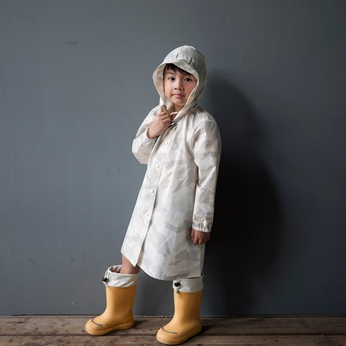 Cool play camouflage light gray children's raincoat