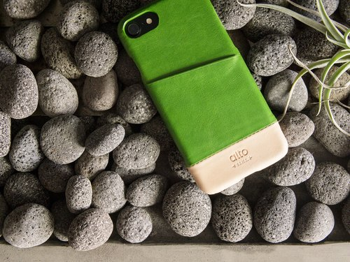 alto iPhone 8 / iPhone 7 leather case shell back cover 4.7 inch Metro - Lyme green / character [can be added to buy guest text Lei Lei] leather case Leather Case