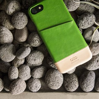 Alto iPhone 8 leather phone case back cover 4.7吋 Metro - Lyme Green / True Color