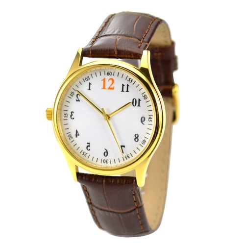 Backwards Watch Gold - Unisex - Free shipping worldwide