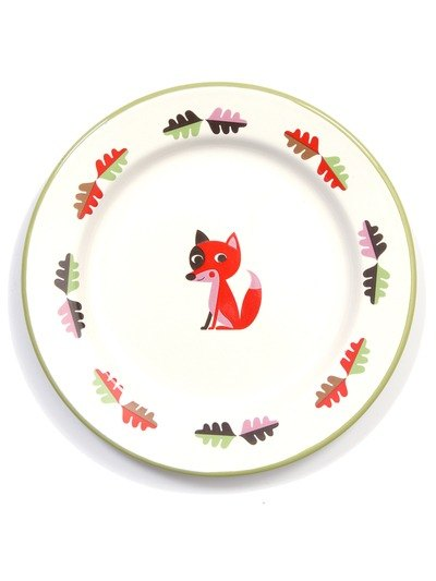 Sweden OMM X Ingela small fox enamel tray