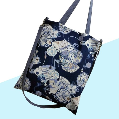 Day Blue - 2 way bag/ shoulder bag