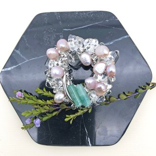 Exquisite - Japanese Style Brooch【Mini Pearls& Jade】【birthday gift】【wedding】