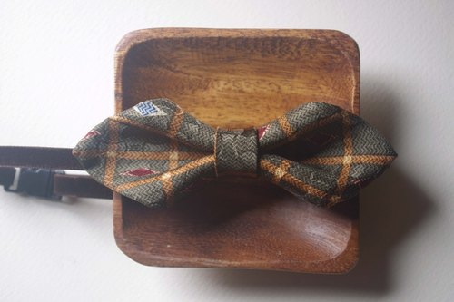 Papa's Bow Tie- antique handmade cloth flowers tie tie restructuring - Xiong Maji - Wide