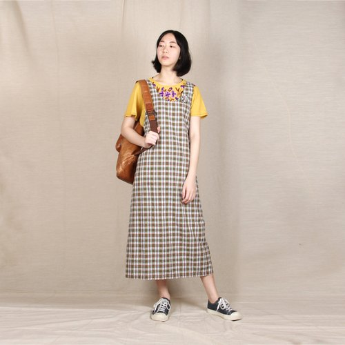 [Eggs] plant vintage vintage picnic plaid sundress
