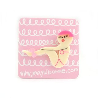 YOGA girls brooch/pin