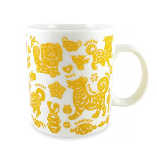 Ten dogs and ten beautiful dog mugs (yellow)