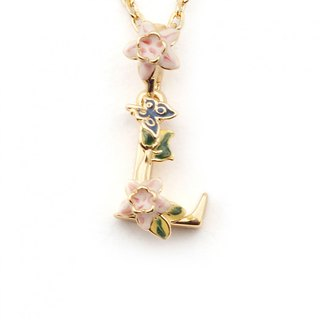 Flower English letter L necklace