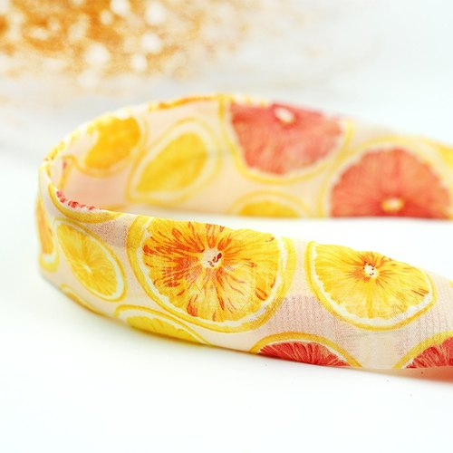 Calf Village Calf Village Handmade Hairline Aluminum Hair Band Multi-style Headband Ancient Lemon Grapefruit {Play Color Fruit Plate} 【A-60】