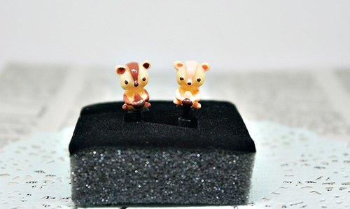 * Squirrel couple * << pair of * 2 >> - earphone plug / / dust plug series -➮ limited amount X1 # cute # # Valentine's Day lovely ceremony #