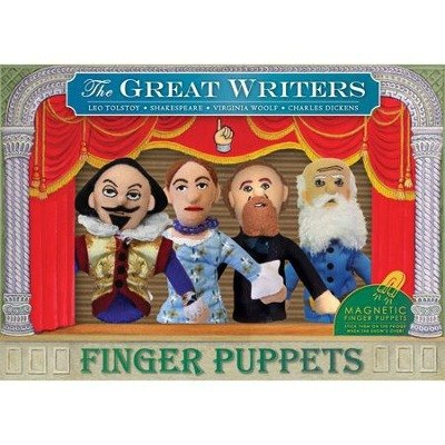 Writers finger puppets