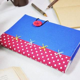 Hand-made book clothes [wall flower girl sleepwalking] treasure blue canvas section (Big Ben = A5)