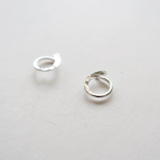 925 Silver Circular Forged Grain Earrings-Sold as a Pair