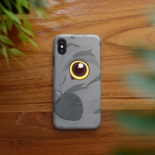 close up gray cat left iphone case สำหรับ iphone 6, 7, 8, iphone xs , xs max