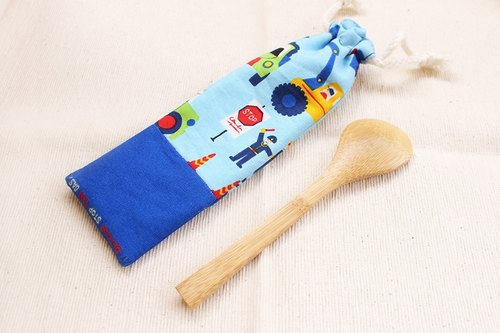 Playful pattern of children with short-hand for hand chopsticks sets / drawstring pouch
