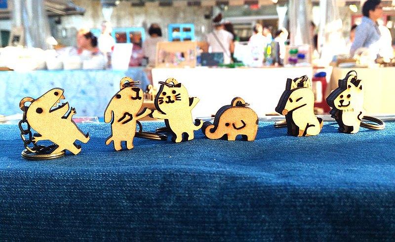 可愛小動物好朋友/ 六隻可愛在一班 - 吊飾/鑰匙圈