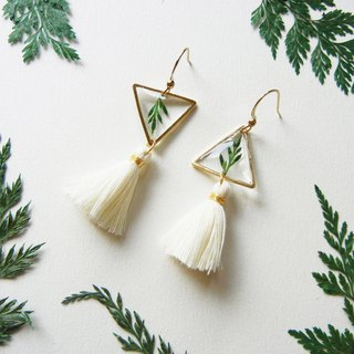 *coucoubird*Fern Series - Upside Down Triangle Tassel Earrings