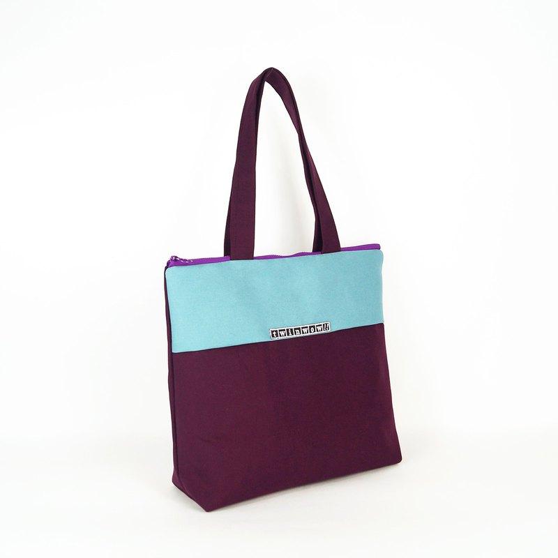 典雅簡約 - 行動輕量手提包 - 水藍紫