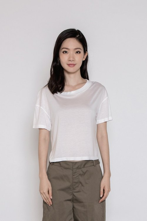 Whims comfortable microlens shirt Outspoken Cupro Tee White