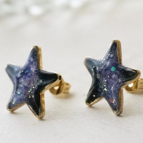 Hand-painted ★ views of the universe earrings / earrings