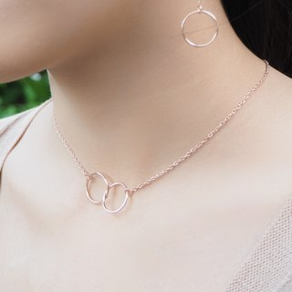 Rose gold plated Dainty infinity silver necklace