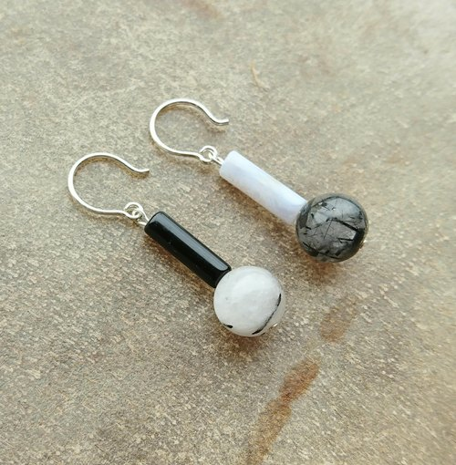 Tourmalinated Quartz Earrings