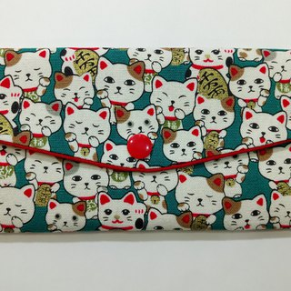 Lucky double red envelope bag / passbook storage bag (07 Lucky cat collection)