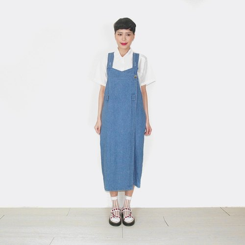 Denim overalls vintage style straps Dress AR6005
