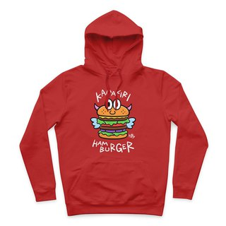 HAMBURGER- Red - Hooded T-Shirt