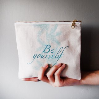 Be yourself, storage bag, lake water green