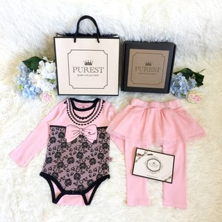 PUREST fashion little lady / long sleeve / perfect gift box / baby newborn moon / birthday / gift preferred