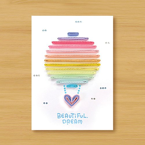 Hand roll card: dream hot air balloon Beautiful Dream _A (fuel card, blessing card, birthday card, thanks card)