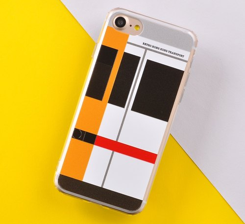 Retro Means of Transports in Hong Kong Style Designer iPhone 8 / iPhone 8 Plus, iPhone 7/ 7 Plus Case - Kwoloon Train