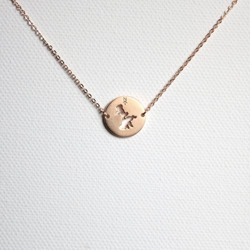 #islandpride 14K Matte Rose Gold Minimalistic ❖ Lamma Island ❖ Necklace by izola.co