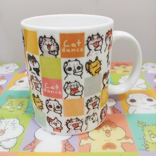 乜乜Mug - Ceramic Cup - B - Cat Grid