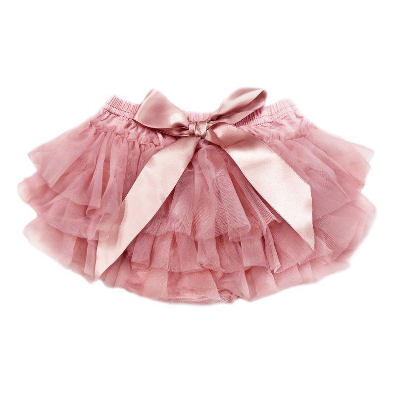 Cutie Bella 雪紡蝴蝶結蓬蓬褲裙 澎澎裙屁屁褲 Dusty Pink