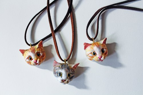 [Moses's warehouse] custom necklace cat の