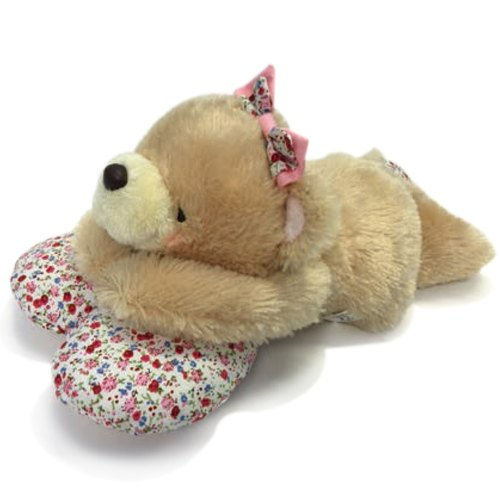◤ tummy Heart Flower Bear | FF 8-inch doll hair