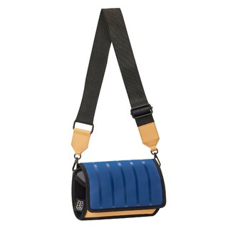 JumpFromPaper Outer Blue Stripe Shoulder Bag