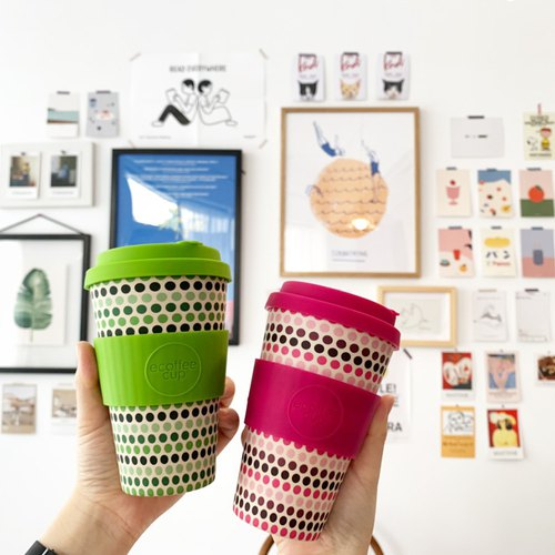 【Natural Bamboo Fibers】 Environmental Followers Cup 14oz
