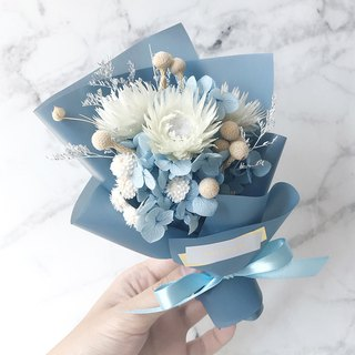 Small bouquet of water blue – no flowers, dry flowers, small bouquets, exchange gifts, Valentine's Day