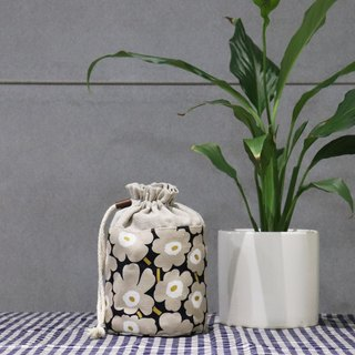 Small items storage ~ flower bouquet pocket (grey flower)