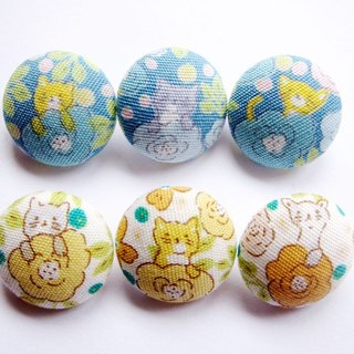 Sewing knitting cloth buckle handmade material florets cat