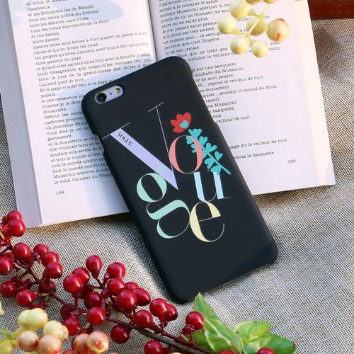 Mobile Shell 4.7-inch iPhone 6 [WaKase ♥ VOGUE picnic defined ┃ heart flowers blossoming - beautiful black fashion Christmas gifts]