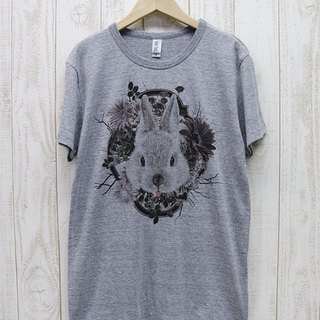 ronron RABIT Tee Flower Frame (Heather Gray) / RPT 044-GR