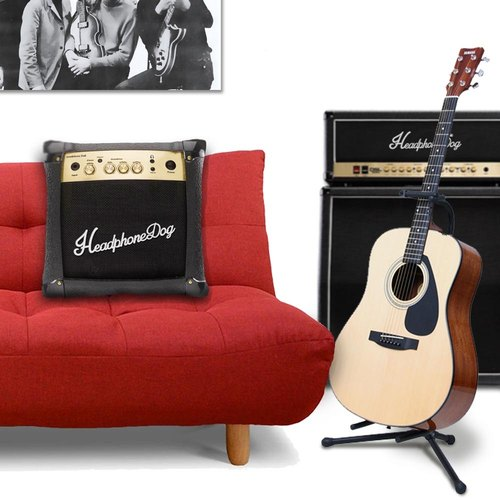 HeadphoneDog AMPS Cushion (M) 40X40CM ( guitar bass marshell gift )