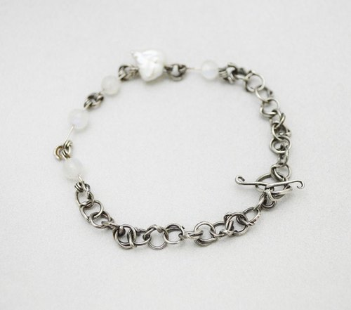 Bring it around. Sterling Silver Bracelet (Sterling Silver Chain)