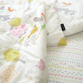 Skin-friendly antibacterial anti-mite baby blanket Korea Kangaruru kangaroo baby [white marshmallow]