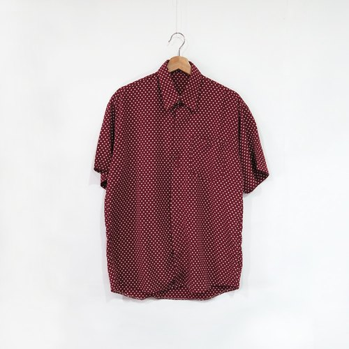 Red water jade little bit of ancient short-sleeved shirt shirt